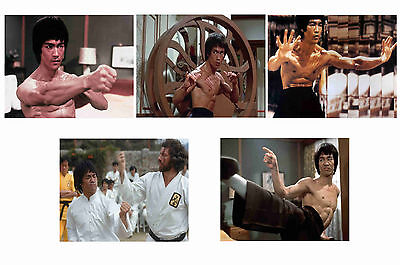 Bruce Lee - Enter The Dragon  - Set Of 5 - A4 Photo Prints