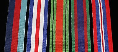 "WW2 Canadian Medal Set, FS (32mm) Replacement Ribbon, 6"" of each for Swing Mount"
