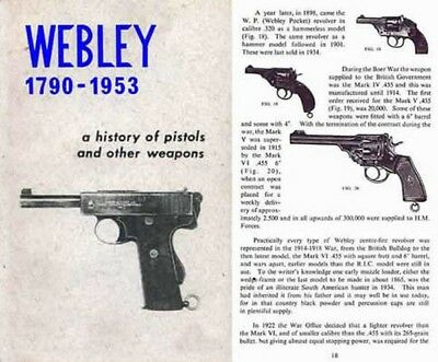Webley 1790 - 1953 History of Pistols and Weapons