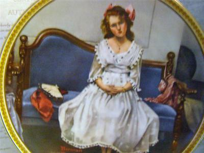 KNOWLES / BRADFORD EXCHANGE / WAITING AT THE DANCE BY NORMAN ROCKWELL PLATE