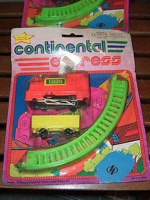 80'S VINTAGE CONTINENTAL EXPRESS TRAIN LOCOMOTIVE BATTERY OPERATED TOY MOC