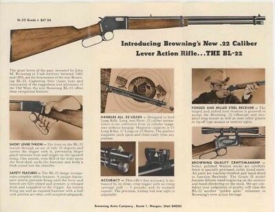 Browning BL-22 Rifle Announcement Flyer