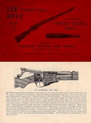Winchester-Lee c1895 Straight Pull Rifle (Civilian) Manual