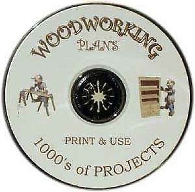WOOD PDF PLANS * 1000's & 1000's on a CD * BUILD IT YOURSELF * PRINT & USE