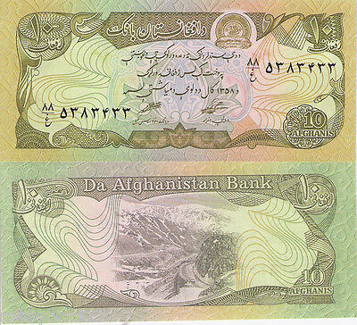 AFGHANISTAN 10 Afghan Banknote World Paper Money UNC Currency p55 Asia BILL