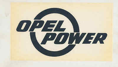 1974 Opel Power Rally ORIGINAL Factory Sticker mx7653