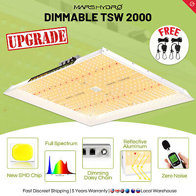 Mars Hydro TSW 2000W LED Grow Light Full Spectrum Hydroponics Indoor Plant