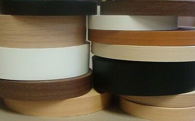 Melamine Pre Glued Iron on Edging Tape/Edge Banding 48mm Wide Various Colours