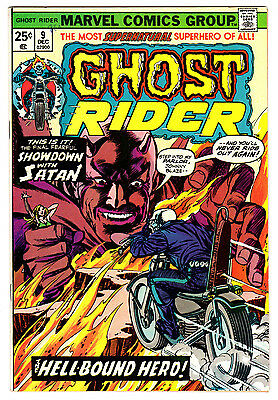 Ghost Rider #9 8.5 Off-White Pages Bronze Age