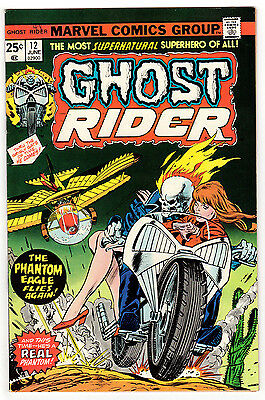 Ghost Rider #12 9.2 Off-White Pages Bronze Age