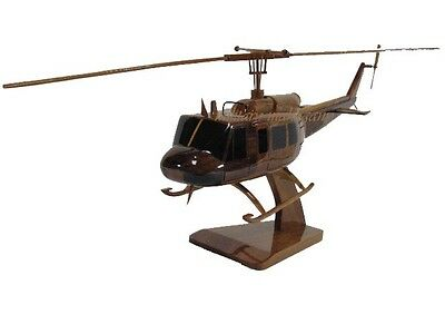 VIETNAM ERA ARMY MARINE BELL UH-1 HUEY SLICK HELICOPTER WOOD WOODEN MODEL NEW