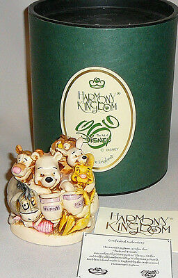 """Harmony Kingdom Disney """"Pooh and Friends"""" WDWPOOH  3.75"""" FIRST in Series"""