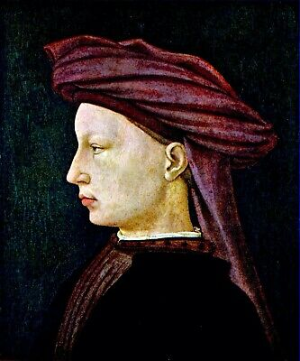 Portrait of a youth in profile by Masaccio Giclee Fine Art Print Repro on Canvas