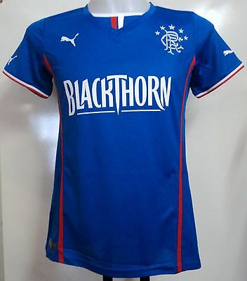 Glasgow Rangers 2013/14 Ladies Home Shirt By Puma Size 12 Brand New With Tags