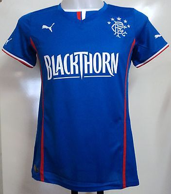 Glasgow Rangers 2013/14 Ladies Home Shirt By Puma Size 14 Brand New With Tags
