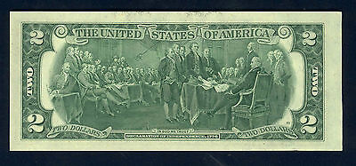 1976 BiCentennial $2 GEM CU U.S. FED RESERVE NOTE ~ 43 YEARS OLD, YET BRAND NEW