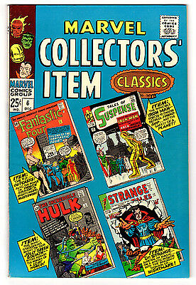 Marvel Collectors Item Classics #6 9.0 Off-White To White Pages Silver Age