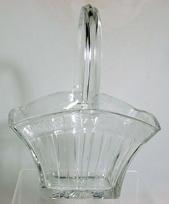 Heisey - No.465 RECESSED PANEL - Basket Vase with Margaret Etch