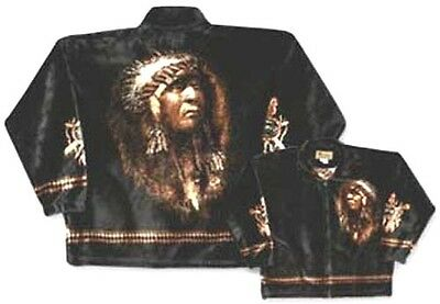 The Chief Native American Plush Fleece Jacket
