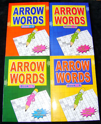 NEW SET 4 ARROW WORDS A4 BOOKS 268 PUZZLES IN TOTAL! No. 1-4