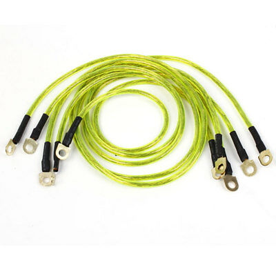 5pcs HKS Grounding Kit Ground Earth Wire Cable Green for Car Vehicle
