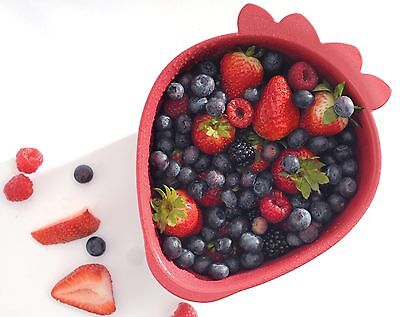 NORPRO 2140 Red Berries Strawberry Colander Great for Fruits and Vegetables