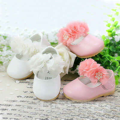 New Baby Girls Christening Shoes in White Pink Gold 3-6 Months to 18-24 Months