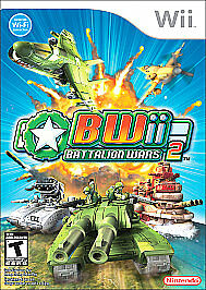 Nintendo Wii BWii Battalion Wars 2 *CASE & SLIPCOVER ONLY* *NO GAME DISC*