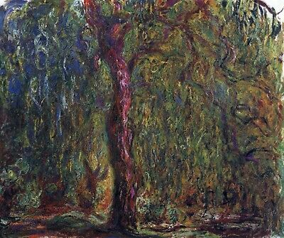 Weeping willow by Claude Monet Giclee Fine Art Print Reproduction on Canvas