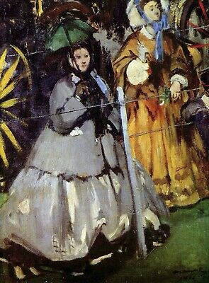 Spectators at the races by Manet Giclee Fine ArtPrint Reproduction on Canvas