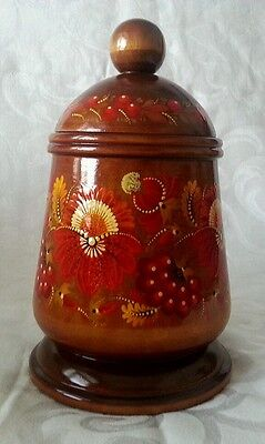 Ukrainian hand painted wooden box 9""