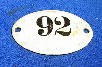 Vintage German Enamel & Iron Sign 92 #AR19