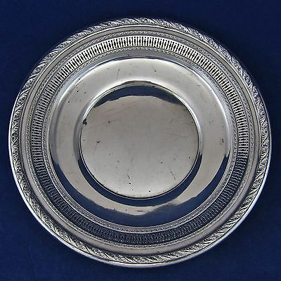 "WALLACE Antique STERLING SILVER 9-1/4"" PLATE #4056-3 Repousse PIERCED Dish 202g"