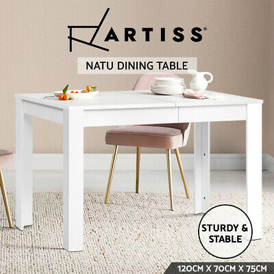 4 Four Seater Dining Table Erica Home Furniture Rectangular Natural Wooden