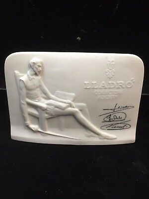 LLADRO Collectors Society Plaque with Signatures, Daisa 1985 USC RD6947