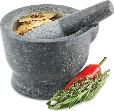 Andrew James 15cm Pestle And Mortar Solid Granite Spice Herb Crusher Grinder