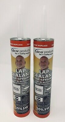 (2) RV/Trailer Dicor EPDM Rubber Roof Self Leveling Lap Sealant, 2 Pack