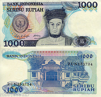 INDONESIA 1000 Rupiah Banknote World Paper Money UNC Currency Pick p124 Bill