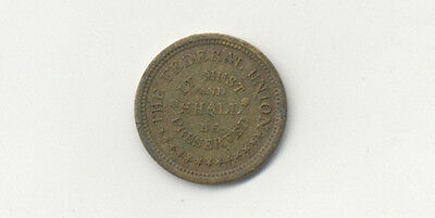 The Federal Union ~ It Must And Shall Be Preserved ~ Army And Navy ~ Token