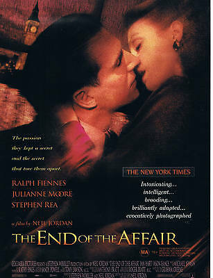 The End Of The Affair - Original Australian size A4 - 4 page Flyer