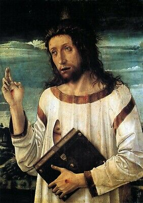 Christ in thorns by Giovanni Bellini Giclee Fine ArtPrint Repro on Canvas