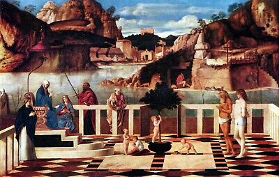 Allegory of Purgatory by Giovanni Bellini Giclee Fine Art Print Repro on Canvas
