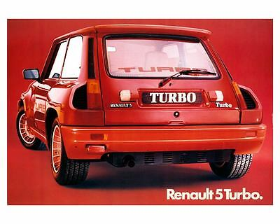 1980 ? Renault 5 Turbo Automobile Photo Poster zc8838