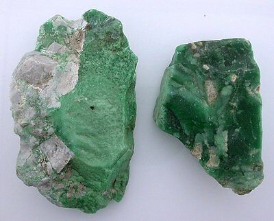 154.4 Grams Two Pieces Quality Green Variscite Rough Gemstone Cab Cabochon VR15A