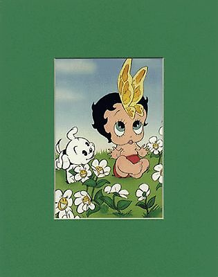 BABY BOOP~Betty Boop~Mat Print~ONE BLOOMING BABY~BUTTERFLY'S & FLOWERS