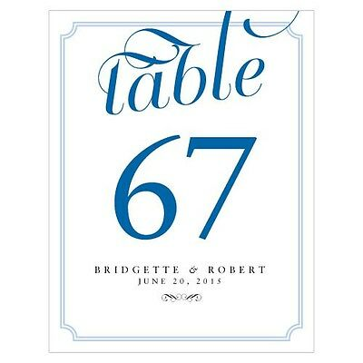 Personalized Expressions Wedding Table Numbers