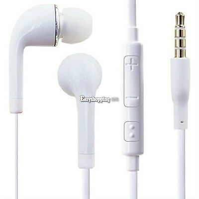 White 3.5mm Earphone Headphone with Mic for Samsung Galaxy SIII S3 Wholesale Lot