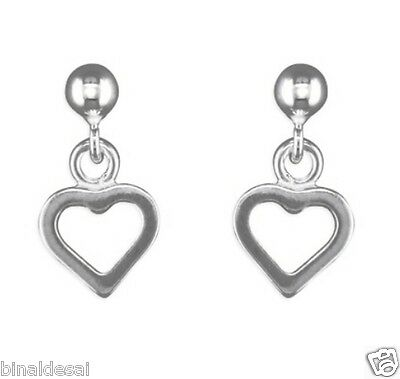 Funky 925 Sterling Silver Puffed Open Oval Drop Earrings With Gift Box