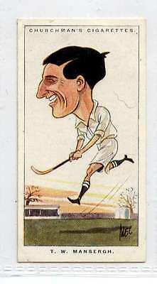 (Ji481-100)Churchman,Men Of The Moment In Sport, T.W. Mansergh ,1928 #34