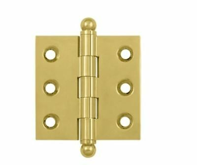 "Cabinet Hinge 2""x 2"" with Ball Tips Solid Brass in 10 Finishes By FPL Door Locks"